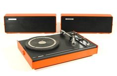 PHILIPS 603 Portable Orange 1970's