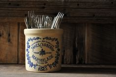 marmalade pot reused for cutler - via The Murmuring Cottage