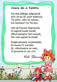 POEZIE GR MICA Montessori Activities, Activities For Kids, Crafts For Kids, Act Practice, Kids Poems, Preschool At Home, Teaching French, Kids Education, Nursery Rhymes