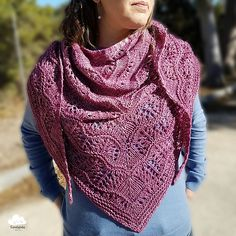 New Beginnings by Boo Knits, knitted by Candylola   malabrigo Silky Merino in Plum Blossom