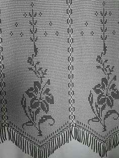 Crochet Curtain Pattern, Crochet Curtains, Curtain Patterns, Filet Crochet, Boho Shorts, Projects To Try, My Favorite Things, Lace, Crafts