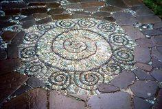 Stone Art Blog: Jeffrey Bales Mosaic Pilgrimage, a labour of love, a labour of pebbles!  wow