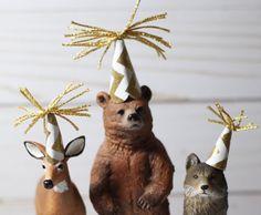Party Animals Woodland Birthday Party Cake Topper by HalfPintFauna