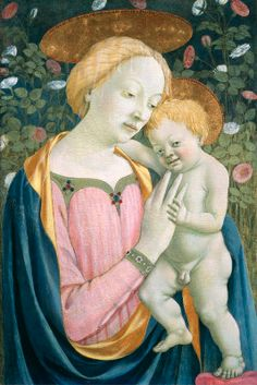 Painting by Domenico Veneziano (ca 1410-1461), ca 1445,  Madonna and Child, tempera on panel. (Florentine) (NGA)