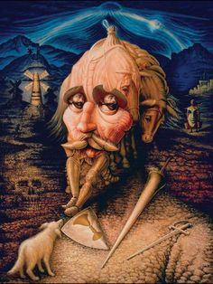 Don Quixote - enlarge this pin to really enjoy it.