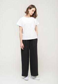 HFM Seoul - Pantaloni morbidi in cotone garzato
