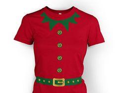 80112bf904b Elf Costume (Green Detail) womens t-shirt Womens Elf Costume