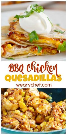 These BBQ Chicken Quesadillas are a quick and easy dinner perfect for using leftover chicken!
