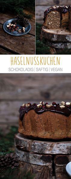 Heute gibt's veganen Haselnusskuchen und zwar einen der ordentlich haselnussig schmeckt und nicht nur so'n bisschen wischiwaschi-oh-guck-mal-ne-Nuss