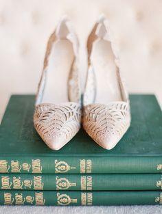 Lovely blush bridal shoes