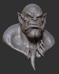 ArtStation - Garrosh Hellscream Bust, Oscar Loris
