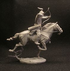 Dear friends and colleagues! I present a photo of my last project. It is the first figure in the project from three Mongolian horseback riders. The figure is sculpted in the single copy for the private…