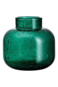 Vase en verre, modèle mini: Petit vase en verre avec bulles d'air apparentes…