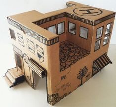 How to Make a Simple Toy House from a Cardboard Box