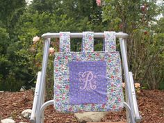 Walker Bag Quilted Periwinkle Blue Pink by RoseRidgeCreations, $39.99
