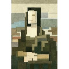 """East Urban Home 'Mona Lisa' by Adam Lister Graphic Art on Wrapped Canvas Size: 26"""" H x 18"""" W x 0.75"""" D"""