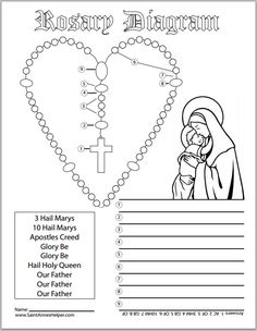 Printables Catholic Worksheets the ojays children and google on pinterest there are several rosary worksheets same page as this diagram worksheet really