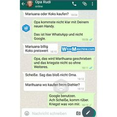Lustige WhatsApp Bilder und Chat Fails 218 – Opa will Drogen kaufen Funny WhatsApp Pictures and Chat Fails 218 – Grandpa wants to buy drugs Super Funny Quotes, Funny Memes, Jokes, Bts Memes, Whatsapp Pictures, Jimin, Funny Test, Funny Text Messages, Nursing Memes