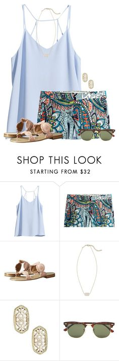 """""""~ guide your own ship ~"""" by flroasburn ❤ liked on Polyvore featuring H&M, J.Crew, Jack Rogers, Kendra Scott and Ray-Ban"""