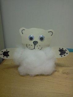 Polar Bear Puppet (created in the Blue Jay room)