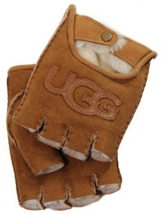 Ladies Twinface Shearling Fingerless Driver in Chestnut by UGG® Australia (S) Fun and Playful Gloves By UGG® Australia. Classic Shearling Collection. 100% Shearling Sheepskin. Bailey Button Detail. Contains Real Fur From Sheep Or Lamb.