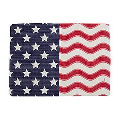 Patriotic Flag Vinyl Place Mat from Big Lots