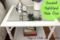 Did you know about mirror paint? (I didn't!!) Reinventing a Goodwill Table Into a Chic Nightstand :: Hometalk