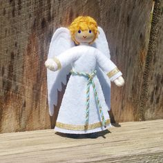 Keyring Plush-Guardian Angel with coloured shirt approx 13 cm NEW