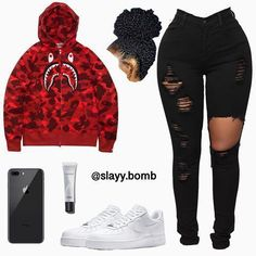 Swag Outfits For Girls, Cute Outfits For School, Teenage Girl Outfits, Cute Swag Outfits, Teen Fashion Outfits, Trendy Outfits, Outfits With Jordans, Ladies Fashion, Grunge Outfits