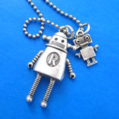 Cute Robot Wall-e Charm Necklace in Silver $10 #robot #geeks #scifi #jewelry #necklace
