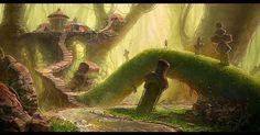 Title: Wet Forest  Artist: Alexey Shugurov  allius.artstation.com  #picoftheday #instagood #digitalart #digitalpainting #fantasy #sweet #ilovefantasyart #cool #inspiring #cgsociety #artstation #omg #best #followme #artwork #art #instadaily #painting #instamood #medieval #love #photography #storytelling