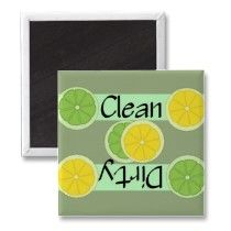 Clean or Dirty Limes and Lemon Dishwasher Magnet by Country1969