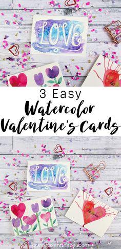 3 Easy Watercolor Va
