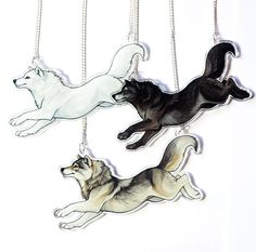 Arcylic Running Wolf Necklace by SushiStudios on Etsy https://www.etsy.com/listing/266654397/arcylic-running-wolf-necklace