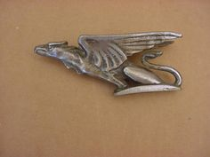 VINTAGE GRIFFIN METAL HOOD ORNAMENT - ART DECOR - CAR EMBLEM - CAR MASCOT