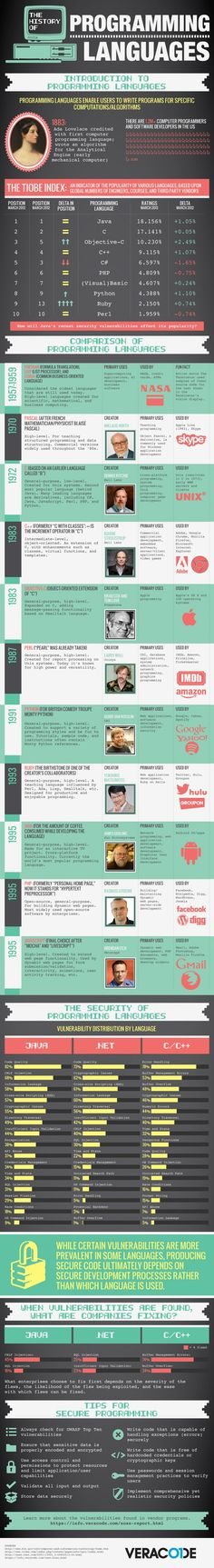 Great InfoGraphics on Programming Languages - Codeplaza