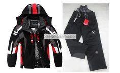 Black Friday - Blacks Men's ski suit Jacket Coat + Pants snowboard Clothing S-XXL EMS Shipping
