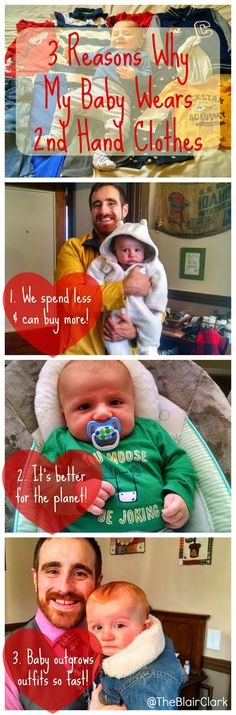 Ideas for Living on a Budget. 3 Reasons Why My Baby Wears Second Hand Clothes. Great for moms on a budget!