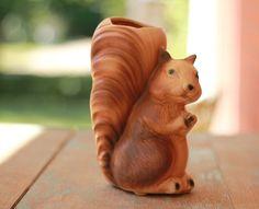 Squirrel Wall Pocket Vase