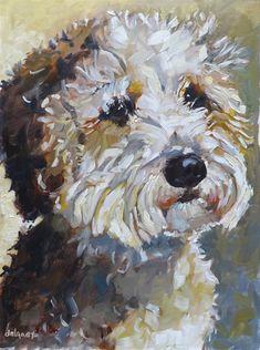 Jean Delaney Gallery of Original Fine Art Goldendoodle Art, Goldendoodles, Pet Rocks, Butterfly Art, Animal Crafts, Diy Stuffed Animals, Dog Portraits, Fine Art Gallery, Animal Paintings