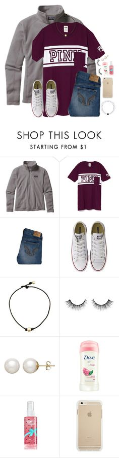 """Shanna's contest entry #2"" by lydia-hh ❤ liked on Polyvore featuring Patagonia, Hollister Co., Converse and Honora"