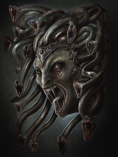 Wicked Medusa tattoo inspiration. Greek mythology.