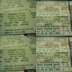 2 great shows  2 happy clients!!! J & W Linesitters arrived early in the morning to secure these 2 sets of tickets for Today's show of Waitress & Anastasia!!! We could give you these great services also! Contact us today for more info!  Valentines day is right around the corner!!! Contact us for your Valentines Day needs#waitressmusical #waitress #anastasia #comefromaway #nyc #broadway #broadwayworld