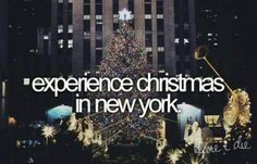 Christmas in New York Bucket List