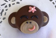 12 Monkey Girl Inspired Chocolate Covered Oreo Cookies Edible Monkey Birthday Party Monkey Girl Baby Shower Jungle Birthday Baby Shower. $24.00, via Etsy.