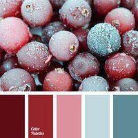 Christmas berries color palette - burgundy, red and pink. Colour Pallette, Colour Schemes, Color Combos, Beautiful Color Combinations, Pantone, Logo And Identity, Branding, Color Balance, Design Seeds