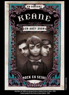 Keane Rock en Seine 2009 - Artist: Benjamin Lacombe