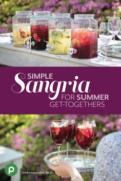 Hits: 3 CLICK Image for full details Make the most of Publix wine and fresh seasonal fruit with four make-it-in-a-snap sangria recipes. Source by publix Party Drinks, Cocktail Drinks, Fun Drinks, Alcoholic Drinks, Beverages, Sangria Recipes, Cocktail Recipes, Drink Recipes, Margarita Recipes