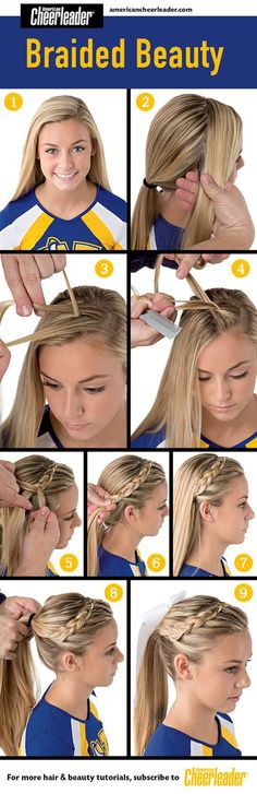 9. CHEERLEADER'S BRAIDED HAIRSTYLE