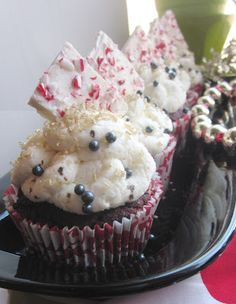 Chef Tess' Gluten-Free Red Velvet Brownie Cupcakes with White Chocolate Peppermint Mousse | In The Kitchen With Honeyville
